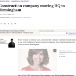 Construction company moving HQ to Birmingham