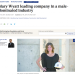 Mary Wyatt leading company in a male-dominated industry